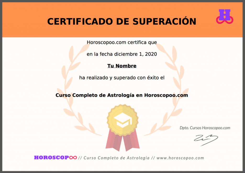 ejemplo certificado horoscopoo